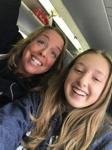 Selfie fun on the plane