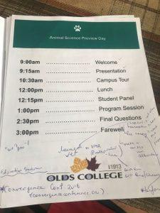 Olds College Agenda