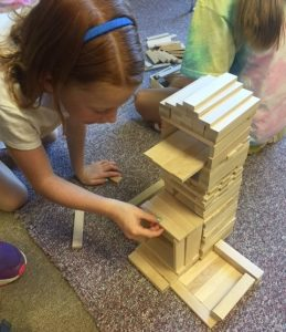 building with keva planks