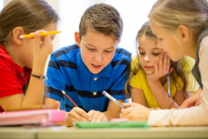 kids in elementary school tutoring