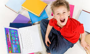 kid on a laptop